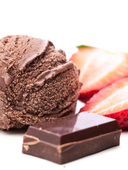 Fruit & chocolate ice-cream