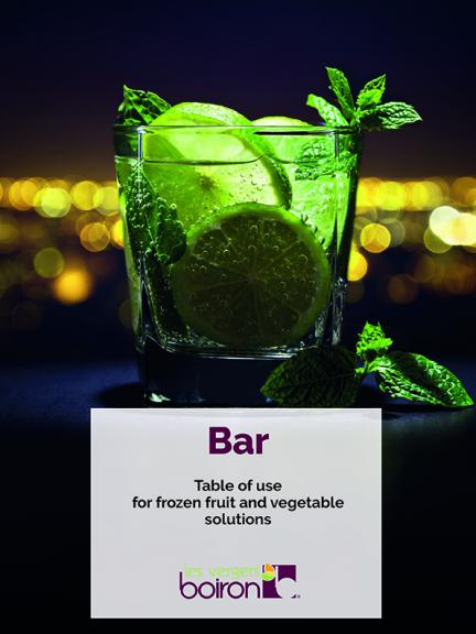 Table Of Use - Bar