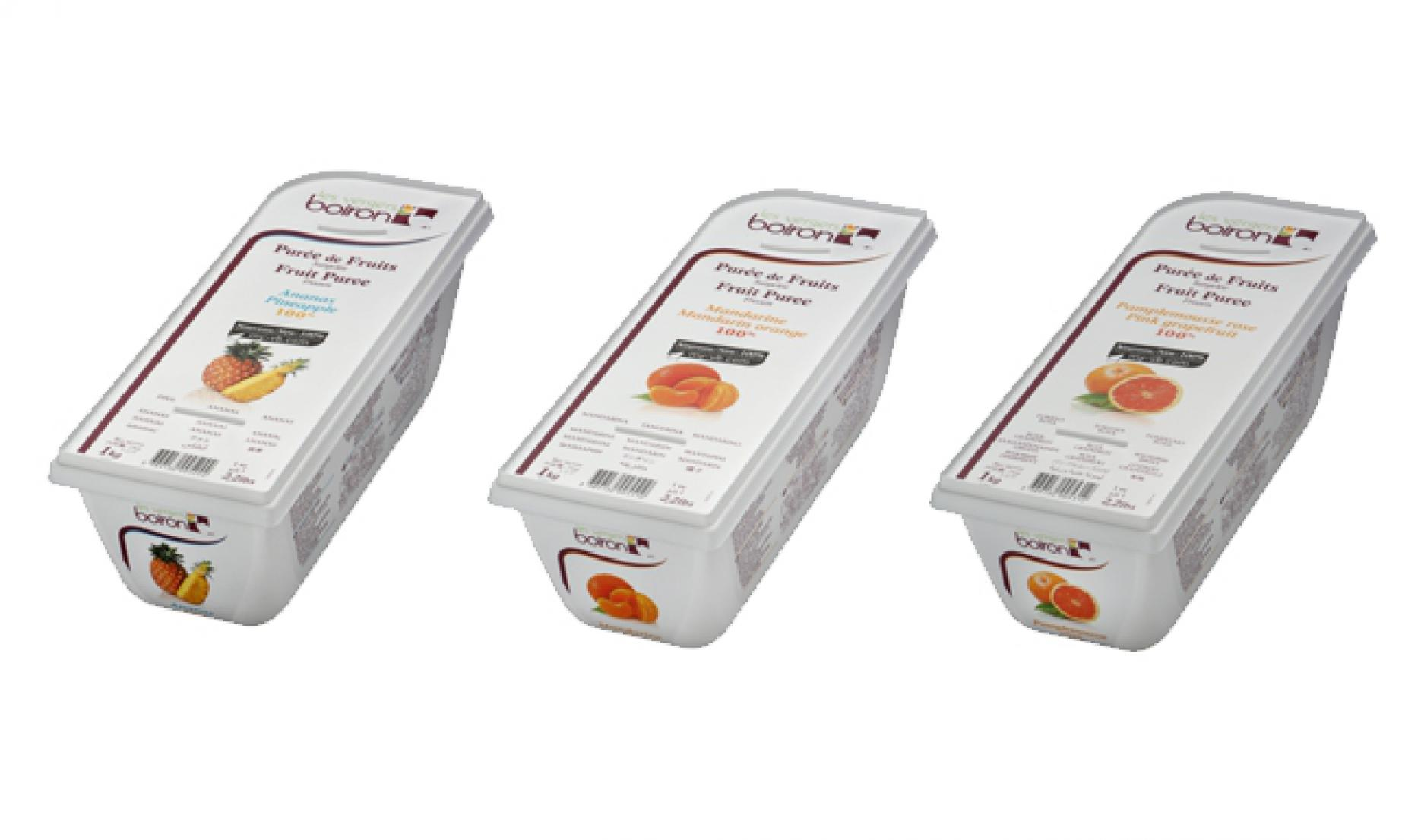 New: launch of 3 citrus fruit in 100% purees