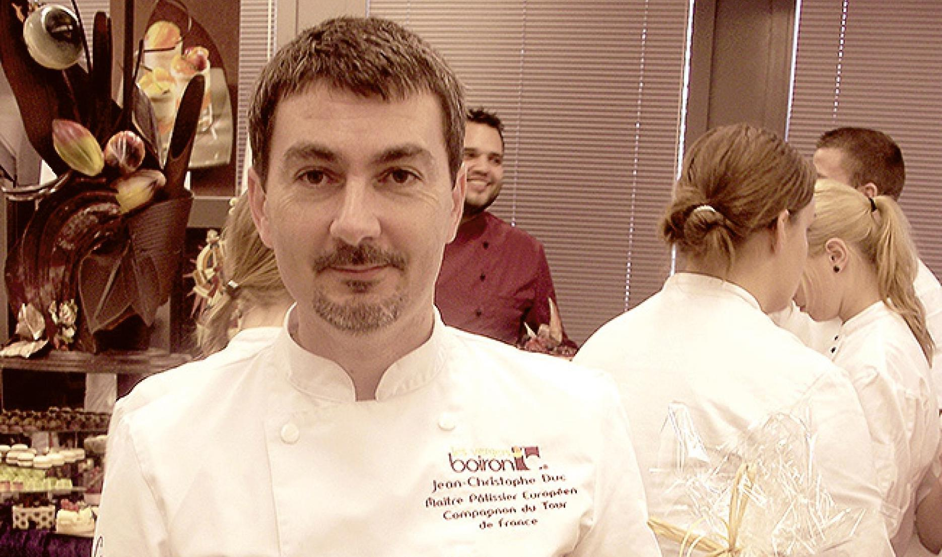 Interview with Jean-Christophe Duc, European master pastry chef and a Compagnon du Tour de France