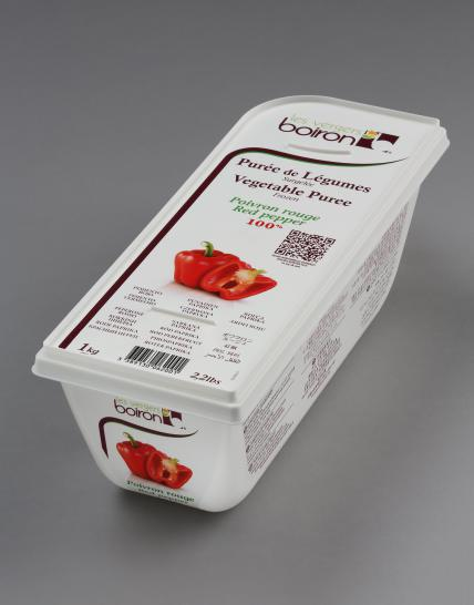 Frozen Vegetable puree 100%: Red pepper 1kg
