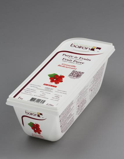 Frozen Fruit puree with added sugar: Redcurrant 1kg