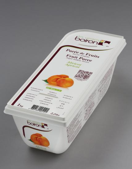 Frozen Fruit puree with added sugar: Apricot 1kg