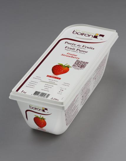 Frozen Fruit puree with added sugar: Strawberry 1kg