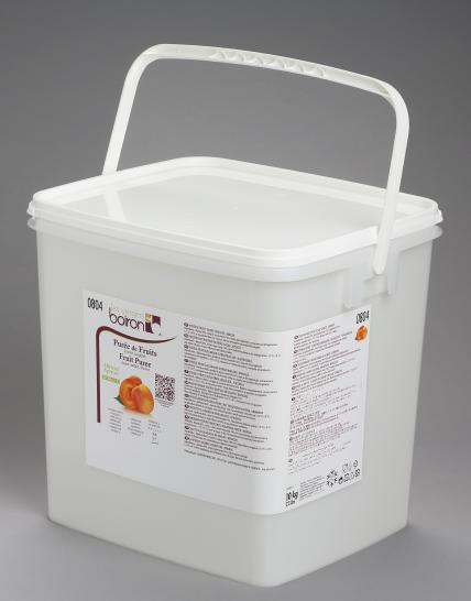 Frozen Fruit puree with added sugar: Apricot 1x10kg