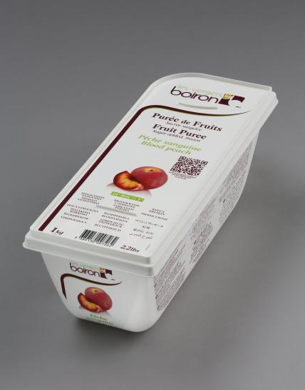 Frozen Fruit puree with added sugar: Blood peach 1kg