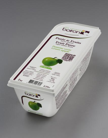 Frozen Fruit puree with added sugar: Green apple 1kg