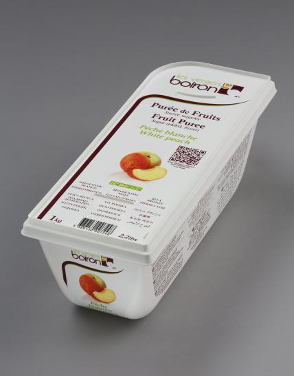 Frozen Fruit puree with added sugar: White peach 1kg