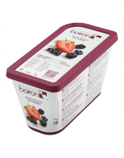 Frozen Fruit puree with added sugar: Red berries 1kg