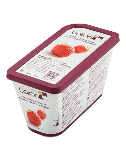 Frozen Fruit puree with added sugar: Mara des bois Strawberry 1kg