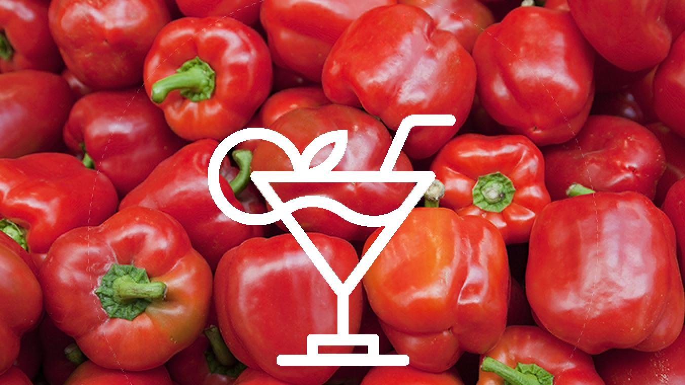 Tomate tequila roter paprika