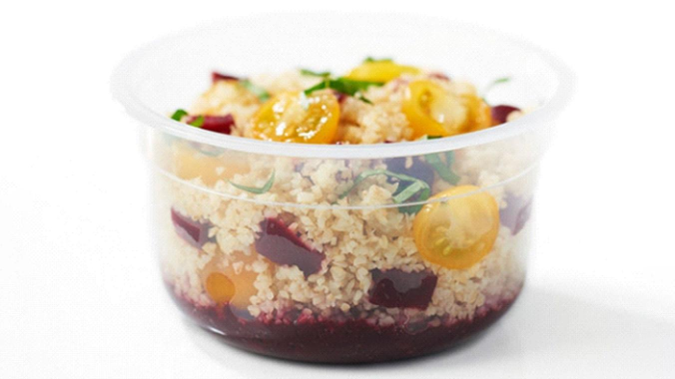 Bulgur salad and blackberry dressing