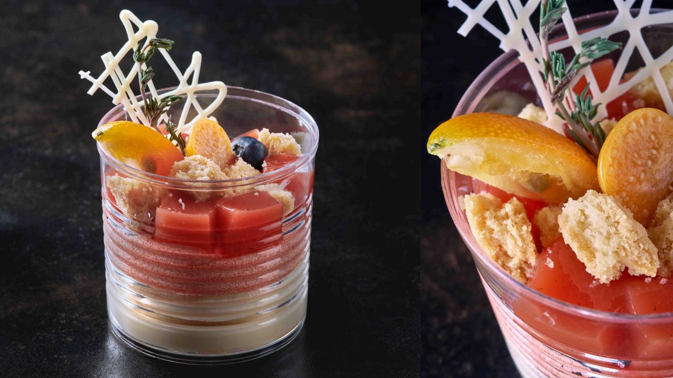 Blood orange verrine