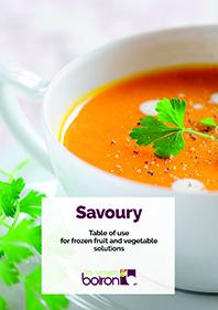 Download savoury table chart