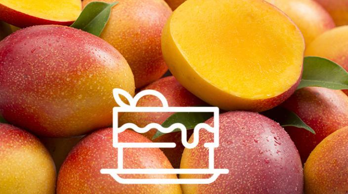Verrine mangue, jasmin et fruit de saisons