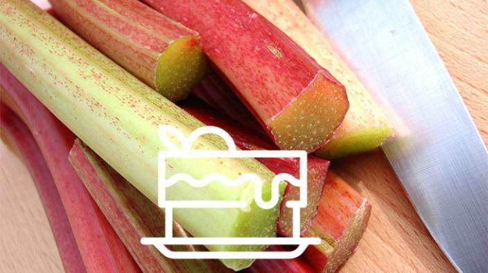 Tarte rhubarbe au cœur de mirabelle