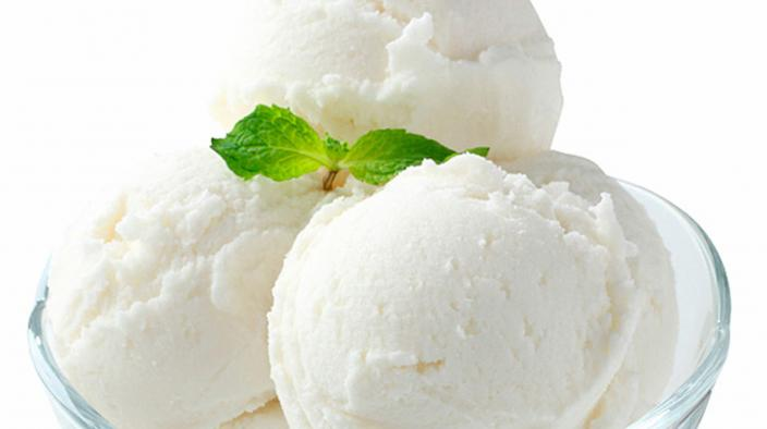 Coconut orange sorbet