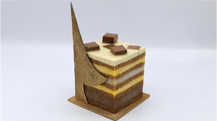 Log cake Like a gift