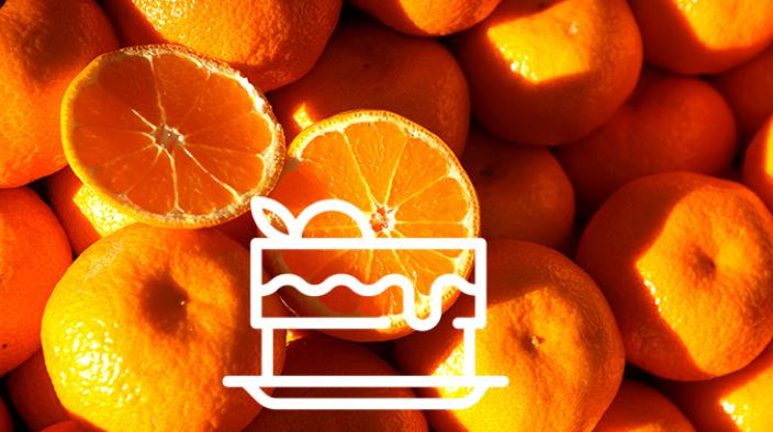Tarte marron mandarine