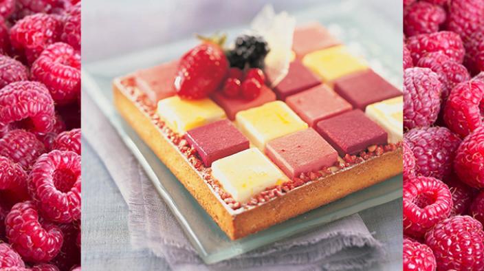 Tarte mosaïque fruits rouges