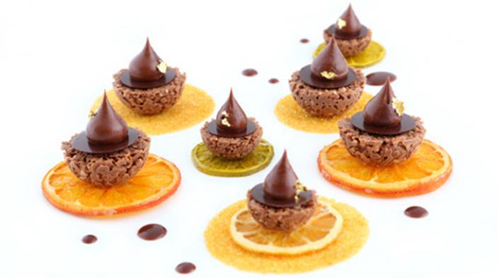 Mignardises choco-mandarine