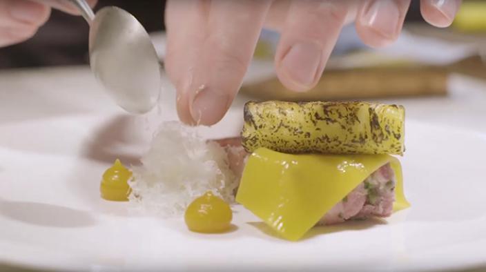 Ham Hock Terrine, Pineapple Jelly, Parmesan recipe