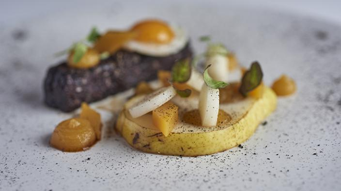 Spiced Pear, Black Pudding