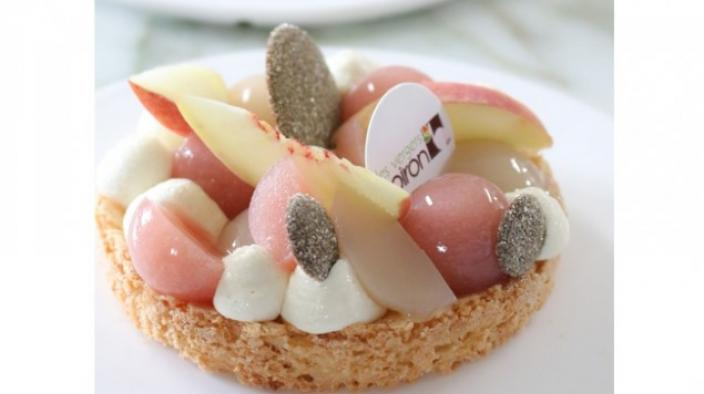 Litschi-Pfirsich-Torte