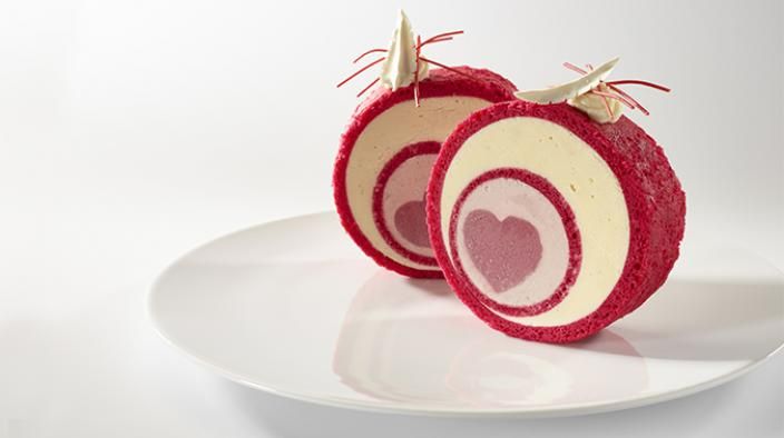 Strawberry Blood Pinot Roulade