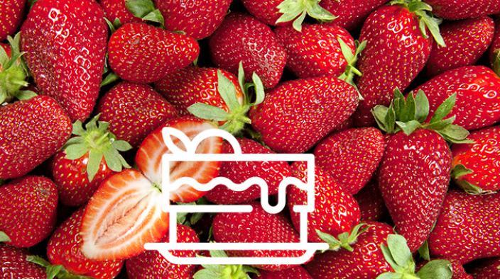 Tarte mosaïque fraise, et cointreau