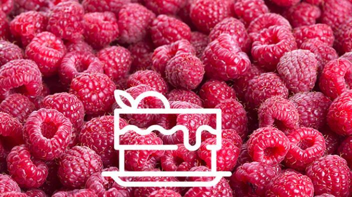 Raspberry plated dessert