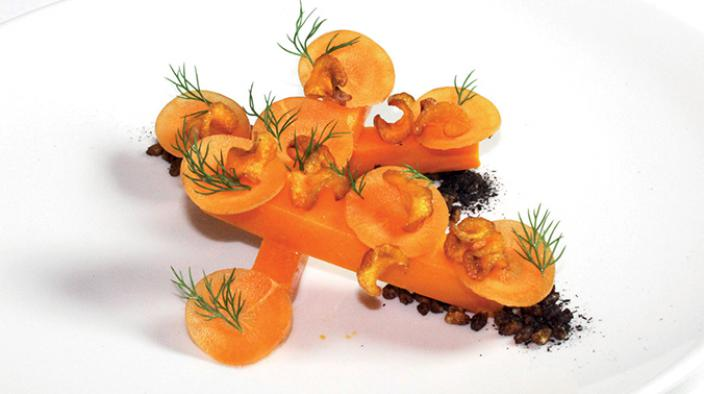 Sea buckthorn, carrot & popped barley