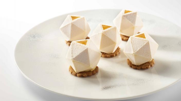Geometric vitrine dessert