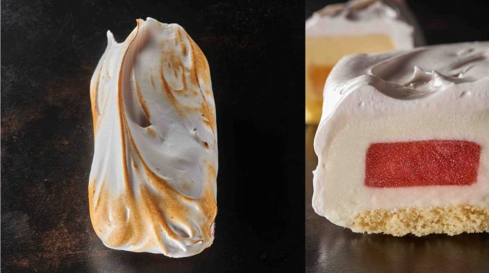 Frozen meringue bar