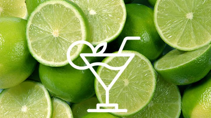 Fresh sparkling lime with wild mint