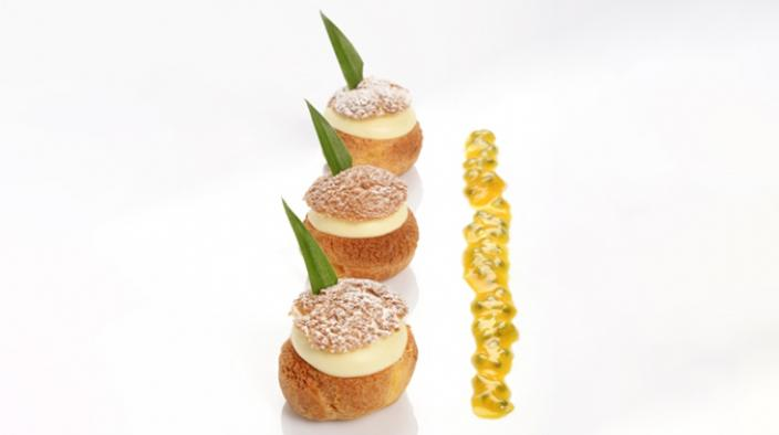Paris-rio passion fruit choux
