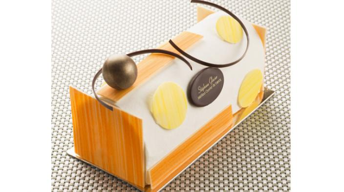 Dream yuzu and milk chocolate log
